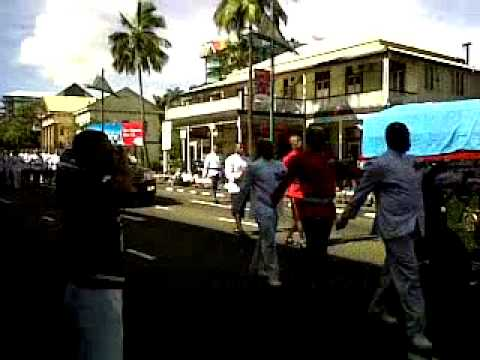 Funeral procession through Suva for the late former Fijian President туи президент